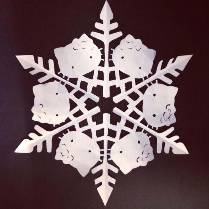 hello kitty snowflake template - Google Search