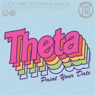 Kappa Alpha Theta | KAT | ΚΑΘ | Paint Your Date | Date Party | Greek Mixer | TGI Greek | Greek Apparel | Custom Apparel | Sorority Tee Shirts | Sorority T-shirts | Custom T-Shirts