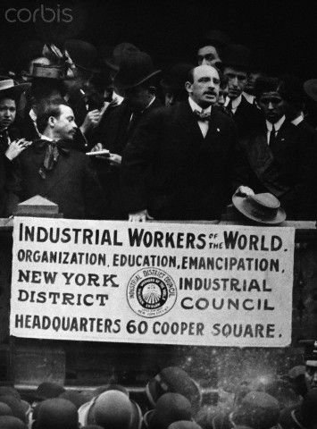 Alexander Berkman Speaking at Rally.  Original caption: Alexander Berkman is shown speaking at an I.W.W. rally in Union Square, New York, 1910