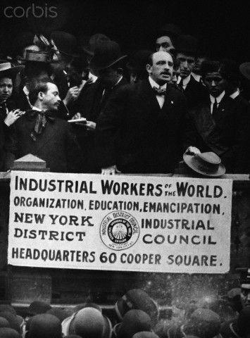 Alexander Berkman Speaking at Rally.  Original caption: Alexander Berkman is shown speaking at an I.W.W. rally in Union Square, New York, 1910