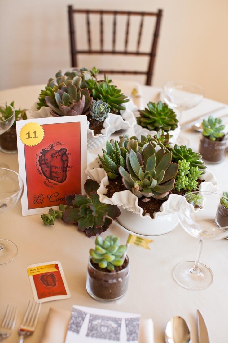 Succulent table setting - wedding