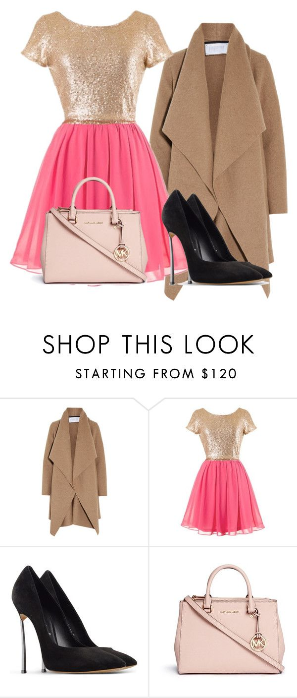 """""""Holiday Party 1"""" by rosesanders on Polyvore featuring Harris Wharf London, Casadei and Michael Kors"""