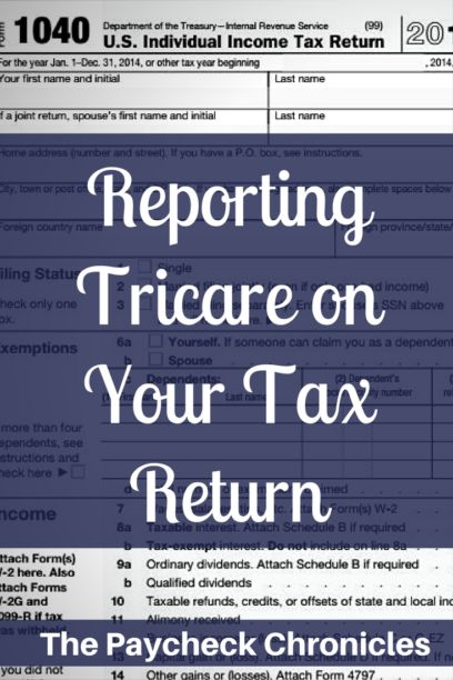 These directions make it so easy to report Tricare health coverage on your income tax return!