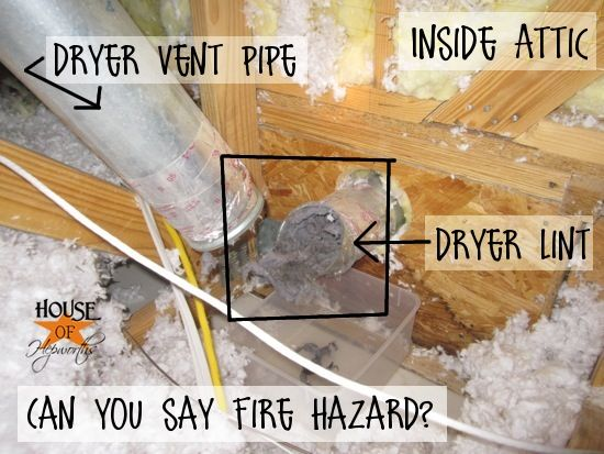 How to clean your dryer vent pipe (which is probably packed with 20 feet of dryer lint) ahhhh!
