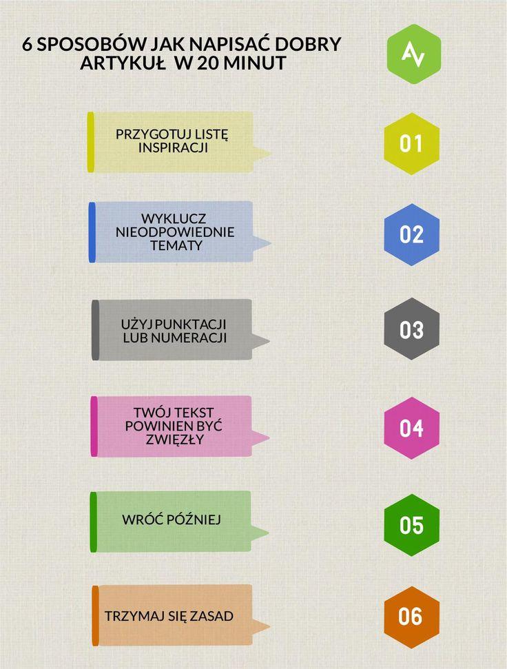 Mamy dla Was 6 porad jak napisać dobry #artykuł w 20 minut  #porady #blog pic.twitter.com/kqEk0ANdlJ