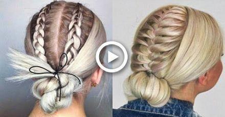 Cheveux bricolés Hacks Chaque personne paresseuse devrait savoir! Coiffures rapides et faciles pour l'école…, #DIY #E