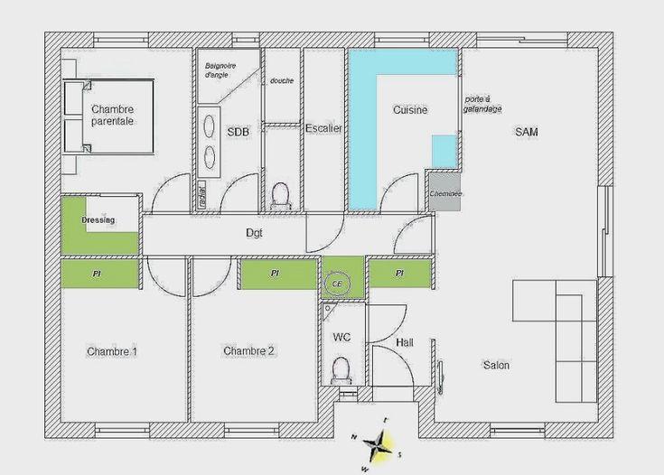 Plan Maison 100m2 Plein Pied Inspirational Plain 3 | Floor plans