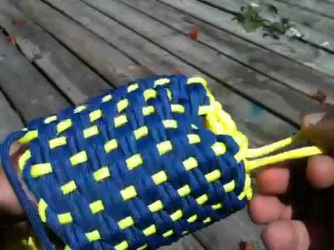 Paracord koozie pouch part 6 of 6 how to diy paracord for Paracord koozie how to make