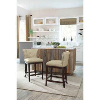 Shop for Signature Design by Ashley Canidelli Off White Upholstered Barstool (Set of 2). Get free shipping at Overstock.com - Your Online Furniture Outlet Store! Get 5% in rewards with Club O! - 18991663