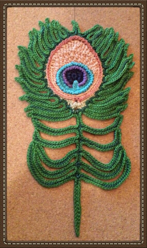 Free Crochet Pattern Peacock Feather : Crochet Peacock Feather by