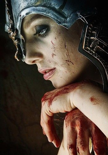this is one of my favorite photos, a woman warrior. God tells us to fight the good fight. Be armed with the Full armor of the Lord.