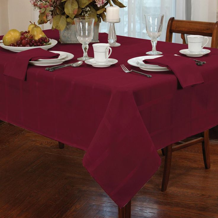 Tablecloths Product Fashions Elegance Burgundy