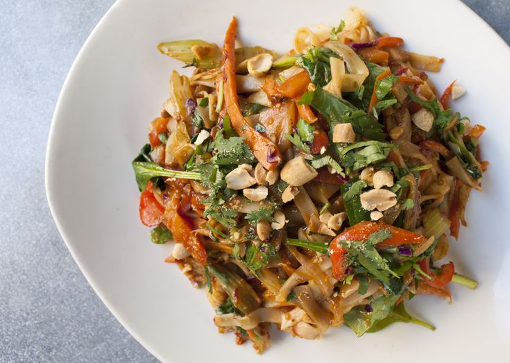 This flavorful peanut noodle dish is not only packed with plant protein, but veggies and enticing aromatic herbs, too. This recipe comes to us from our friends at Pondicheri and is featured as a Meatless Monday special in the restaurant's New York and Houston locations.