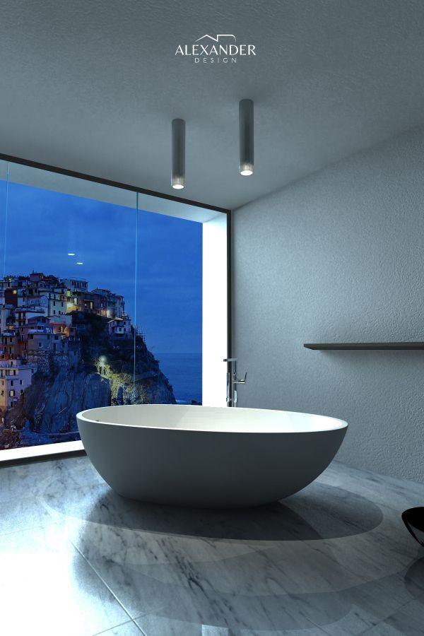 """Vasca centro stanza """"Reina Sofia"""" di Alexander Design. Un prodotto eccezionale ed esclusivo."""