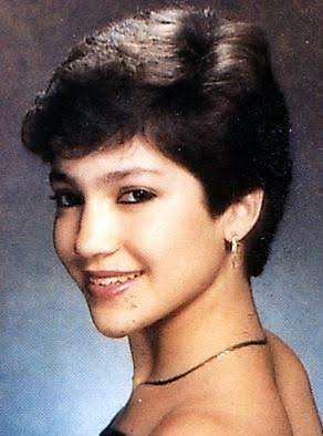 Young Jennifer Lopez with Short Hair Side Profile Shot