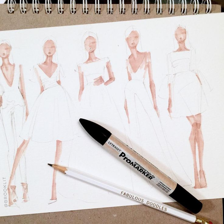 And so it begins, steps 1 and 2: pencil sketches followed by skin tone. by Brooke Hagel @brooklit