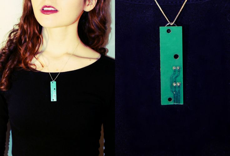 Statement jewelry created out of an old broken printer