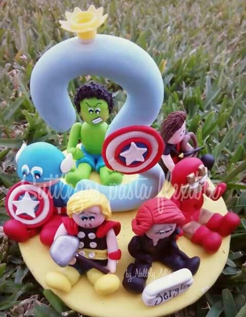 Avengers  Siguenos en facebook : Sutilezas pasta flexible