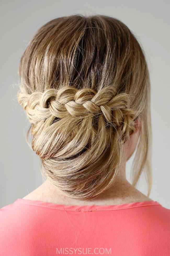 Lace Braid Wrapped Bun Hair Tutorials Pinterest Lace