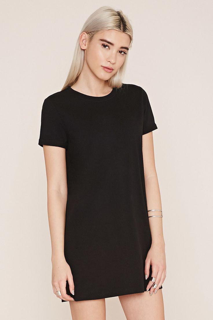 Cuffed-Sleeve T-Shirt Dress
