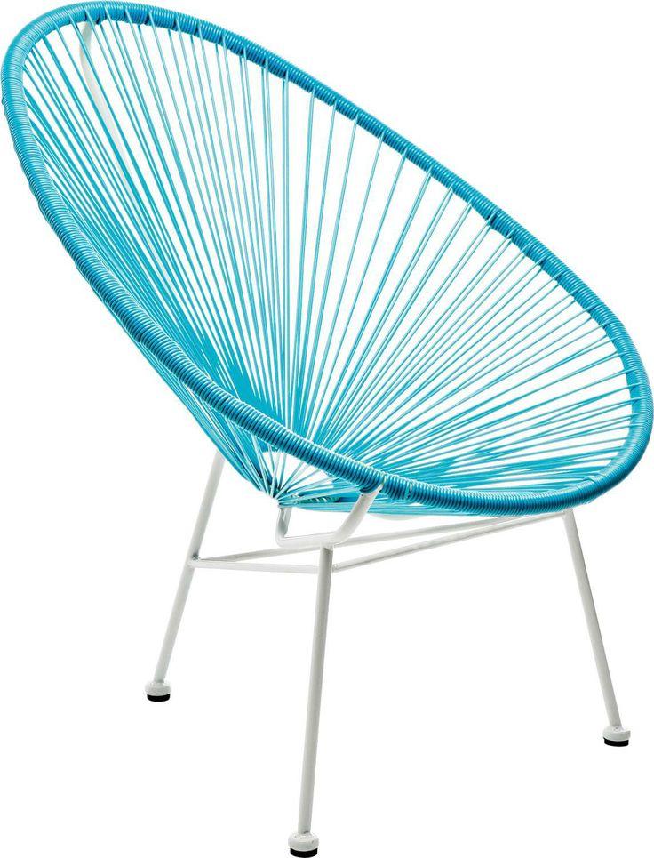 KARE Design Stuhl Bahia Acapulco Chair Retro Designklassiker Hellblau NEU