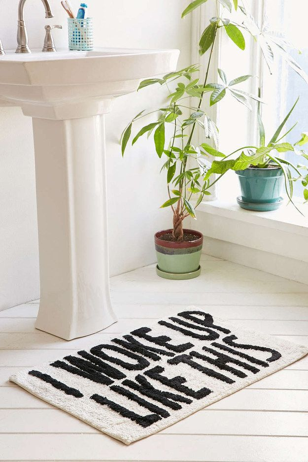 A Beyoncé bath mat that will make any new apartment actually feel like home.