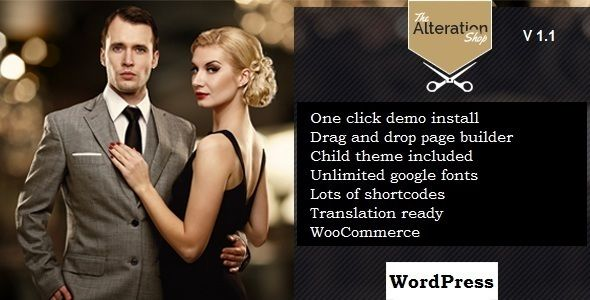 Alteration Shop - WordPress WooCommerce Theme for Tailors and Shops