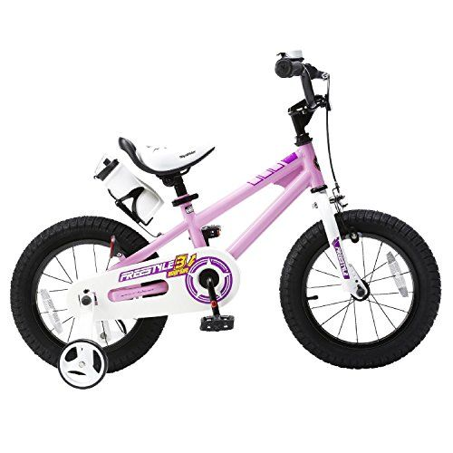 This sporty bike for boys and girls comes with a bell, a water bottle, training wheels, and a quick release seatpost which makes it easy to adjust the height of the seat (18 inch without carrying handle) Easy to put together! 95% of the bike is assembled, leaving only the need to install the training wheels, pedals, handlebar and saddle. All assembly tools are included Also features a sturdy steel frame, a one-piece crank, ball bearing drive shaft, a full chain guard and stee