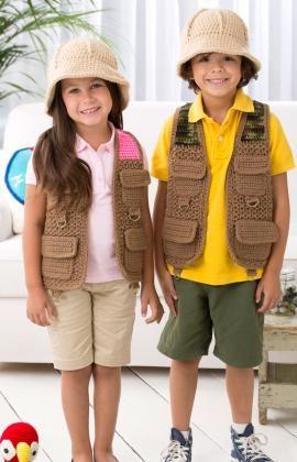 Patrón disfraz explorador a ganchillo para niños