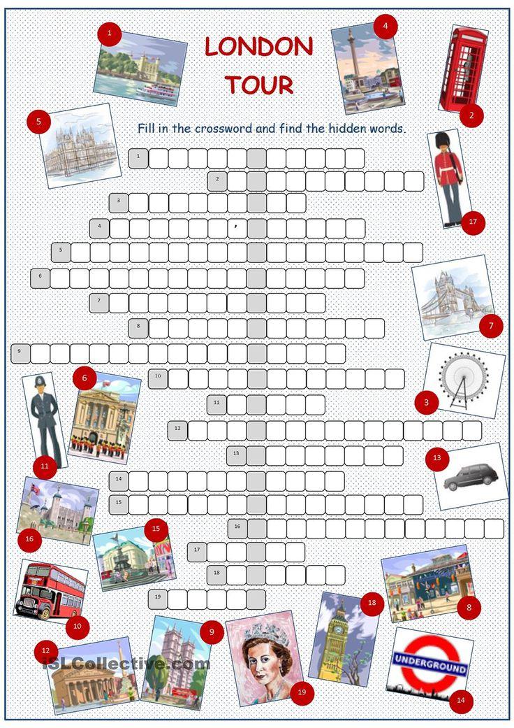 London Tour Crossword Puzzle