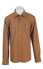 Garth Brooks Sevens by Cinch Men's Khaki Striped Long Sleeve Western Snap Shirt