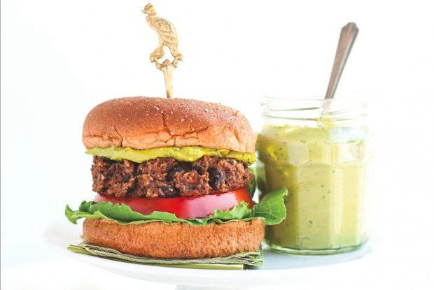 Black Bean Burgers With Tea Basil Aioli Recipe
