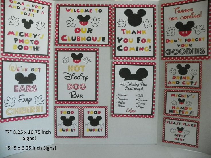 Disney Mickey Mouse DELUXE 12 Piece Cardstock Birthday Party Set Red/Blk  | Home & Garden, Greeting Cards & Party Supply, Party Supplies | eBay!