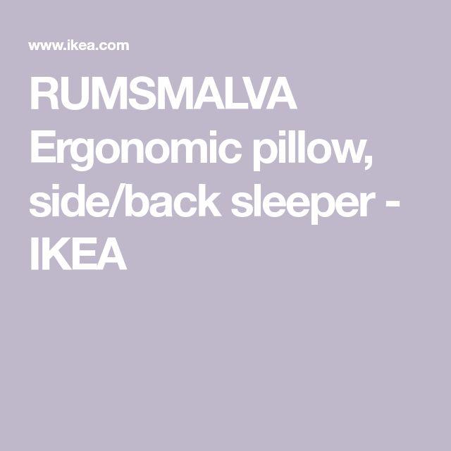 RUMSMALVA, Ergonomic pillow, sideback