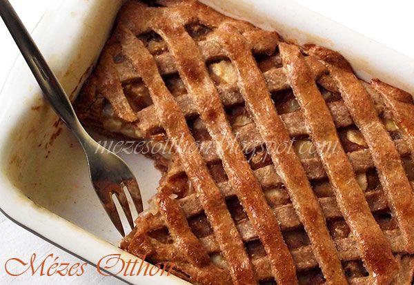 karamellás körtés pite graham lisztből fotó