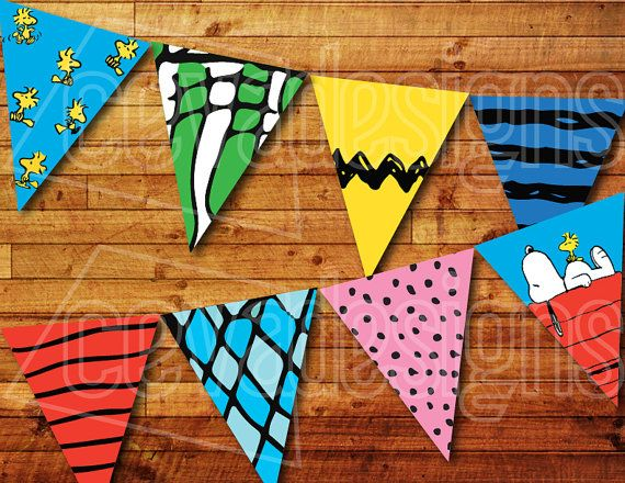 Printable Snoopy Birthday Banner / Charlie Brown Birthday