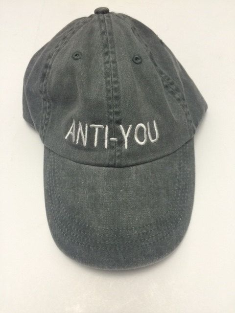 anti you please dont talk to me washed out grey baseball cap 100% cotton baseball cap in dog years im dead instagram tumblr pinterest