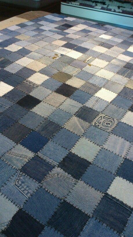 Alfombra Vaquera Reciclar Renovar Jeans Pinterest