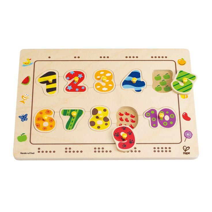 Palapeli jolla lapsi voi opetella numeroita ja laskemista.