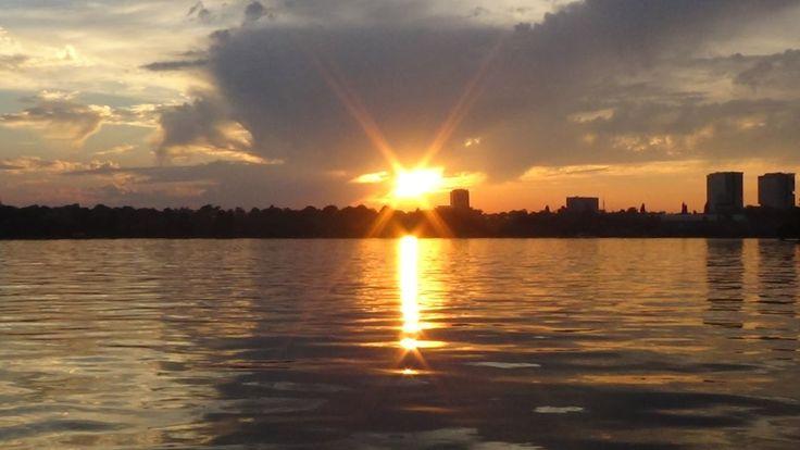 Apus de soare magnific în Herăstrău