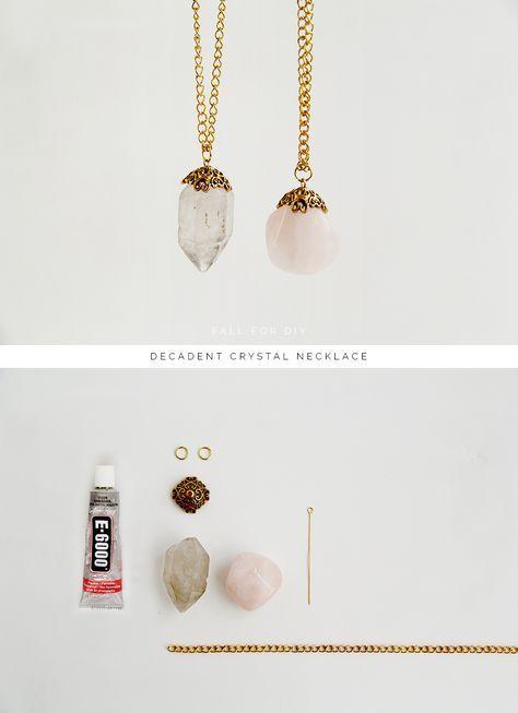 DIY Decadent crystal necklace necklace diy crystal necklace crafts craft ideas diy crafts do it yourself crafty do it yourself crafts