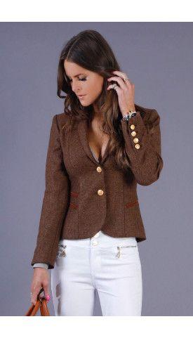 Holland Cooper luxury ladies sporting jacket in brown mo