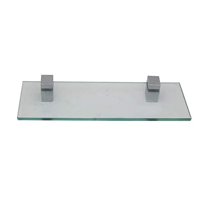 XVL 14-Inch Bathroom Glass Shelf, Chrome GS3002B Review Bathroom
