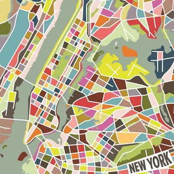 $99, New York in Color Wall Art OL1401, 39'' x 39'' x 4'', the electric energy of New York City comes alive in this vibrant modern art print. From Brooklyn to the Bronx, every borough is captured in a vibrant mosaic of pink, green and blue. Hang the canvas for an abstract representation of The Big Apple.