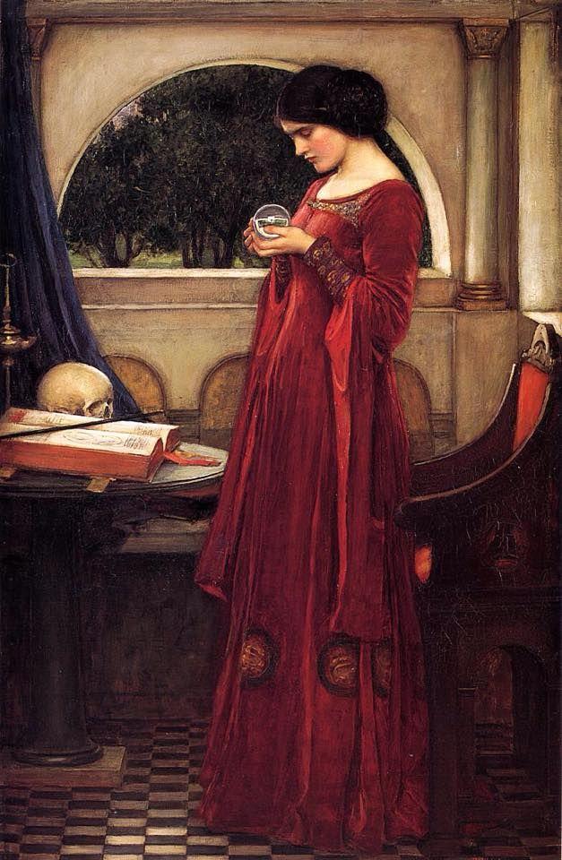 John William Waterhouse - La sfera di cristallo