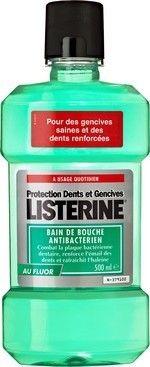 Listerine Bain de Bouche Anti-bactérien Fluor 500ml - Pharmacie Lafayette - Bains de bouche