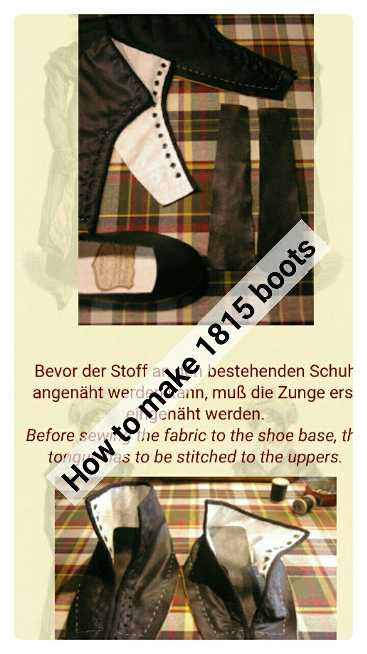 How to make 1815 boots historical costuming tutorials