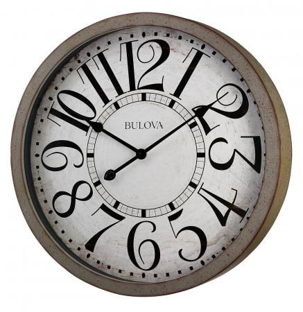 Found it at Clockway.com - 24in Bulova Wall Clock - GTB31297