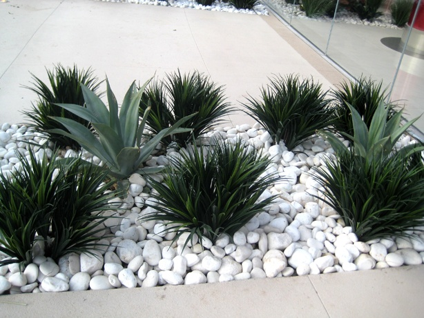 landscaping with artificial