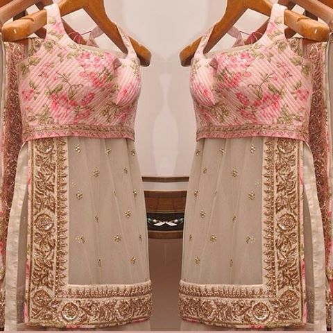 """""""Steel grey saree with heavy emboridery border and pink flower blouse To purchase mail us at houseof2@live.com or whatsapp us on +919833411702 for further…"""""""